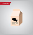 isolated feeding box flat icon fish nutrient vector image vector image