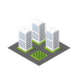 isometric module city from urban building vector image vector image