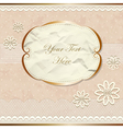 Lacy vintage border with flowers vector image vector image