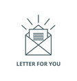 letter for you line icon linear concept vector image