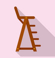 lifeguard beach chair icon flat style vector image vector image