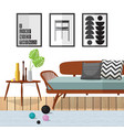 living room woodle furniture vector image vector image