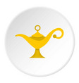 magic lamp icon circle vector image vector image