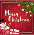 merry christmas festive decoration banner vector image vector image