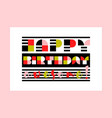 modern happy birthday awesome greeting card vector image vector image