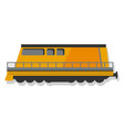 modern locomotive icon cartoon style vector image
