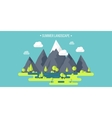 Mountain peak Summer spring landscape Nature vector image vector image
