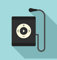 music player icon flat style vector image vector image