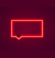 neon symbol chat color red city signboard vector image