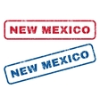 New Mexico Rubber Stamps vector image