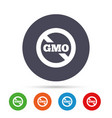 No gmo sign without genetically modified food