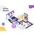 online retailer isometric modern flat design vector image