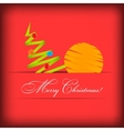Paper card with Christmas tree vector image