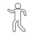 pictogram man icon vector image vector image