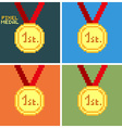 Pixel Medal vector image vector image