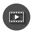 play icon play video in flat style on black vector image vector image