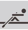 Rowing icon vector image