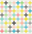 seamless crosses pattern vector image