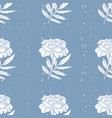 seamless pattern of marigold flowers vector image