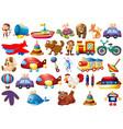 set children toys vector image vector image