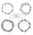 set hand drawn wreaths vector image vector image