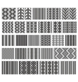 Set of 26 monochrome elegant seamless patterns vector image vector image