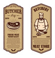 set of vintage butchery and meat store flyers vector image vector image