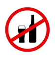 sign stop alcohol with beer vector image vector image