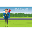 Smiling Young School Boy in Uniform vector image vector image