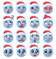 snowman emoji emoticon expression vector image vector image