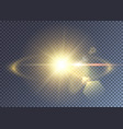 sun or star explosion realistic effect vector image vector image