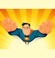 superhero blasting off vector image vector image