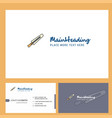 sword logo design with tagline front and back vector image vector image