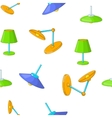 Types of lamps pattern cartoon style vector image vector image