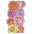 vintage floral seamless pattern vector image
