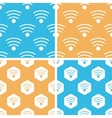 Wi-Fi pattern set colored vector image vector image