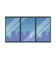 window with cityscape vector image vector image