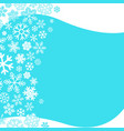 winter background abstract snowflakes design vector image vector image