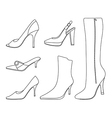 collection of women shoes vector image