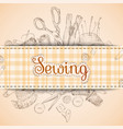 Sewing paper card vector image