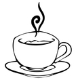 Sketch Cup with hot drink vector image