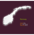 3d map of Norway vector image