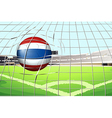 A ball from Thailand hitting a score vector image vector image