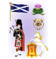 A Collection of Scotland vector image vector image