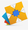 abstract geometric design with a puzzle inside vector image