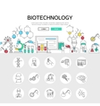 Biotechnology Linear Concept vector image