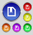 bookmark icon sign Round symbol on bright vector image vector image