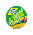 Brasil 2014 Soccer Football Ball Oval vector image