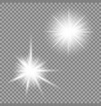 bright light glare on a transparent background vector image
