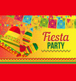 bright poster for fiesta party promotion vector image vector image